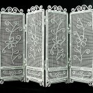 White Wire Folding Screen Divider Dollhouse Furniture #10439