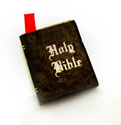 Religion Christian Holy Bible Book Dollhouse Miniature #10529