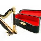 Musical Instrument Folk Modern Harp Dollhouse Miniature #10721