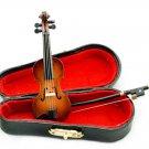 Musical Instrument Violin w Bow Box Dollhouse Miniature #10722