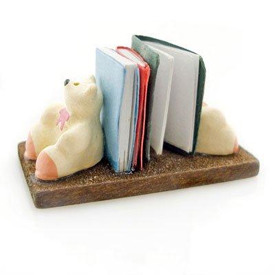 Wooden Polar Bear Book Support Rack Dollhouse Miniature #10812
