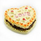 Porcelain LOVE Cheese Cake Snack Dollhouse Miniature #10890