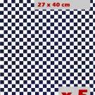 Lot Blue Check Grid Floor Wallpaper Dollhouse Miniature #10913