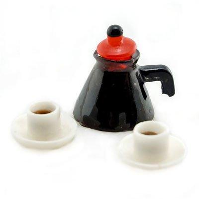 Set Coffee Cup Pot Cafe Shop Doll's Dollhouse Miniature #10978