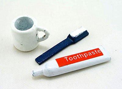 Bathroom Tooth Brush/Paste Kit Dollhouse Miniature Set #11133