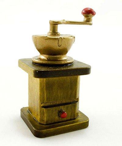 Vintage Mini Roasted Coffee Grinder Dollhouse Miniature #11153