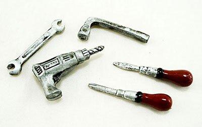 Set Metal Tool Kits Electric Drill Dollhouse Miniature #11155