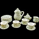 Porcelain Tea Pot Kettle Set Dollhouse Miniature 11pcs #11215