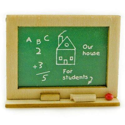 Student School Learning Blackboard Dollhouse Miniature #11274