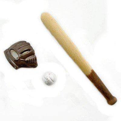 Set Baseball Gloves Ball Bats Gear Dollhouse Miniature #11376