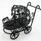 Black Wire Nursery Baby Strollers Dollhouse Miniature #11396