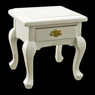 White Queen Ann Bedroom Nightstand Dollhouse Miniature #11523