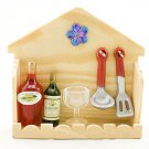 Set Kitchen Champagne Cup Wine Rare Dollhouse Miniature #11546