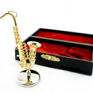 Woodwind Saxophone Sax Band Musical Dollhouse Miniature #11552