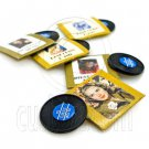 Lot/Set 5 Gramophone Records Dollhouse Miniature #11611