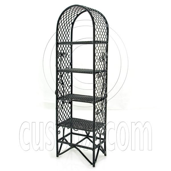 Black Garden Flower Plant Stand Dollhouse Furniture #11702