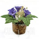 Clay Purple Flower w Pot 1:12 Dolls Dollhouse Miniature #11746