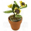 Sunflower Paper Flower Pot Doll's Dollhouse Miniature #11751