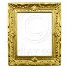 Rectangular Gold Canvas Frame 1:12 Dollhouse Miniature #11781