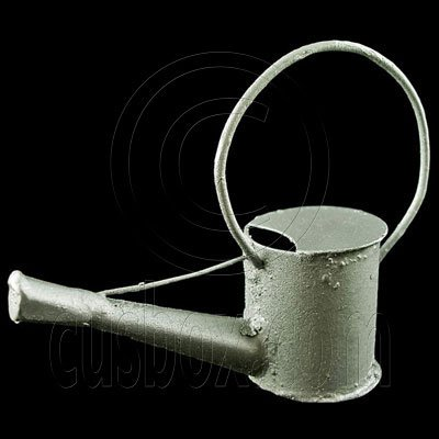 Garden Galvanized Watering Pot 1:12 Dollhouse Miniature #11786