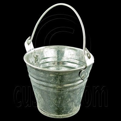 Vintage Zinc Water Bucket Pail 1:12 Dollhouse Miniature #11790