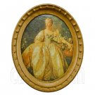 Oval Wall Oil Painting Canvas 1:12 Dollhouse Miniature #11796