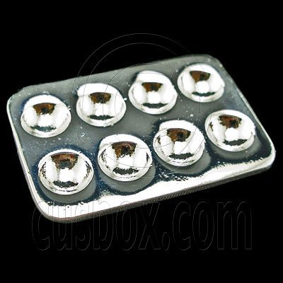 Silver Metal Egg Container New Tray Dollhouse Miniature #11804