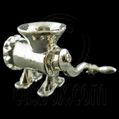 Steel Meat Grinder Mincer New 1:12 Dollhouse Miniature #11812