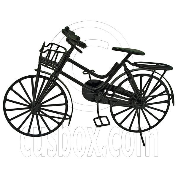 Black Wire Vintage Cycling Bicycle Bike 1:12 Doll's House Dollhouse Miniature #11997
