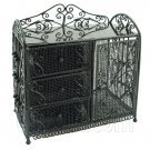 Black Wire Dresser Chest Cabinet 1:6 for Barbie Doll's House Dollhouse Furniture #12059