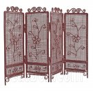 Pink Wire Living Folding Screen Divider 1:12 Doll's House Dollhouse Furniture #12078