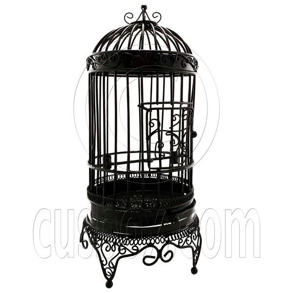 Black Wire Birdcage Bird's Cage Jewelry Display Home Decor Dollhouse Furniture #12097