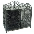 Black Wire Dresser Chest w Drawer Cabinet 1:12 Doll's House Dollhouse Furniture #12108