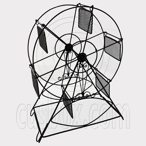 Black Wire Observation Ferris Big Wheel Jewelry Display Necklace Pendant Holder #12129