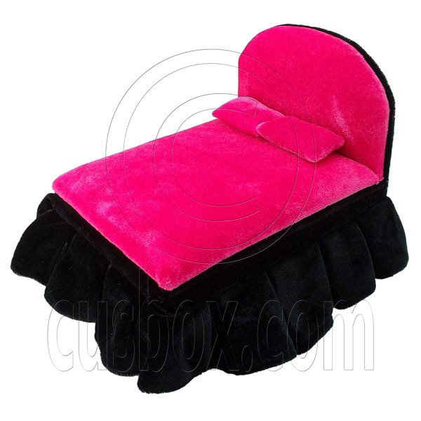 Black Pink Big Bed Jewelry Box 1:6 for Blythe Doll's House Dollhouse Furniture #12160