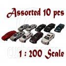 Lot/Set Assorted 10 Painted Auto Car Vehicle RR Train Model 1:200 Z Scale #12269