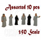 LotSet 10 Mixed Middle East Arab People Figure Painted Train Model 1:50 O Scale #12282