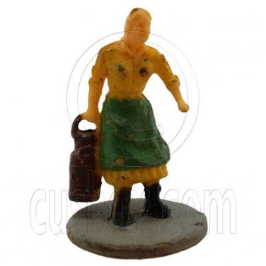 Old Farmer Farming Woman People Figure Painted RR Train Model 1:100 HO Scale #12393