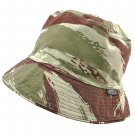 Reversible Outdoor Bucket Hat (Green & Brown Camo in Brush Pattern / Khaki) #51918
