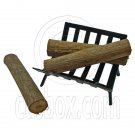 Iron Fireplace Log Rack Holder 3 x Woods 1/12 Doll's House Dollhouse Miniature #12600