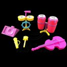 Music Band Instruments Drum Cello Combo Set 1:6 for Barbie Monster High Dolls #12789