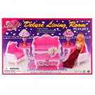 Living Room Sofa Table Lamp Furniture Play Set 1:6 for Barbie Monster High MIB #12797