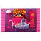 Living Room Longue Lamp Clock Furniture Play Set 1:6 for Barbie Monster High MIB #12798