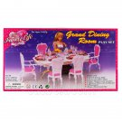 Dining Room 6 Chairs Table Furniture Play Set 1/6 for Barbie Monster High MIB #12799