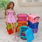 Storage Combo Boxes Box Trunk for 1:6 11 inch Dolls Barbie Monster High Blythe #13124