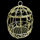 Gold Metal Wire Bird's Cage Birdcage 1:6 Scale Barbie Doll's Dollhouse Miniature #13085