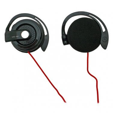 Black 3.5mm On-Ear Y-Cord Clip Sports Foam Stereo Headphones for Apple iPod MP3 #12539