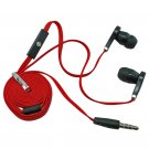 3.5mm In-Ear Earphone Headphone Earbud Headset Microphone Flat Tangle Free Cable #12875