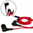 Black 3.5mm In-Ear Earphone Headphone Earbuds Flat Tangle Free Cable for iPod #13042