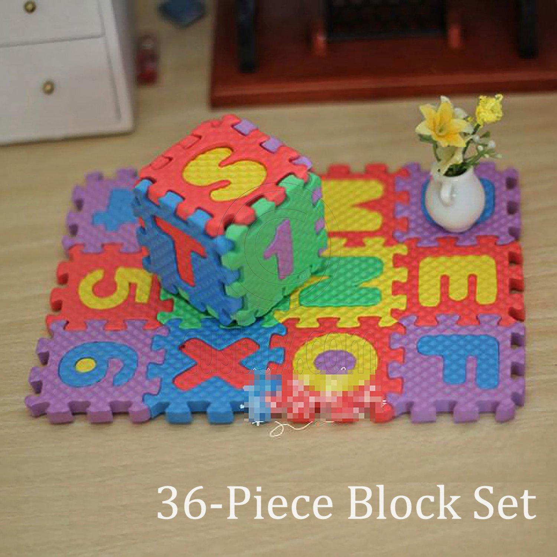 36 Alphabet Blocks Floor Pad Mat Foam Play Puzzle 1:6 Barbie Monster High Doll's #13145